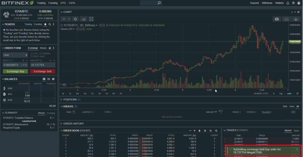 Bitcoins en IOTA - 04 - Conversion effectuée