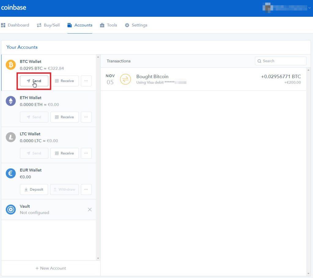 Tuto Bitcoins Coinbase vers Bitfinex - 05 - Coinbase account BTC
